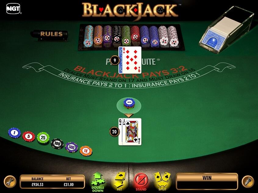 Screenshot of the game: Blackjack