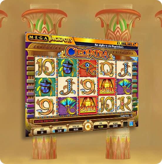 MegaJackpots Cleopatra slot (IGT) - Review 2