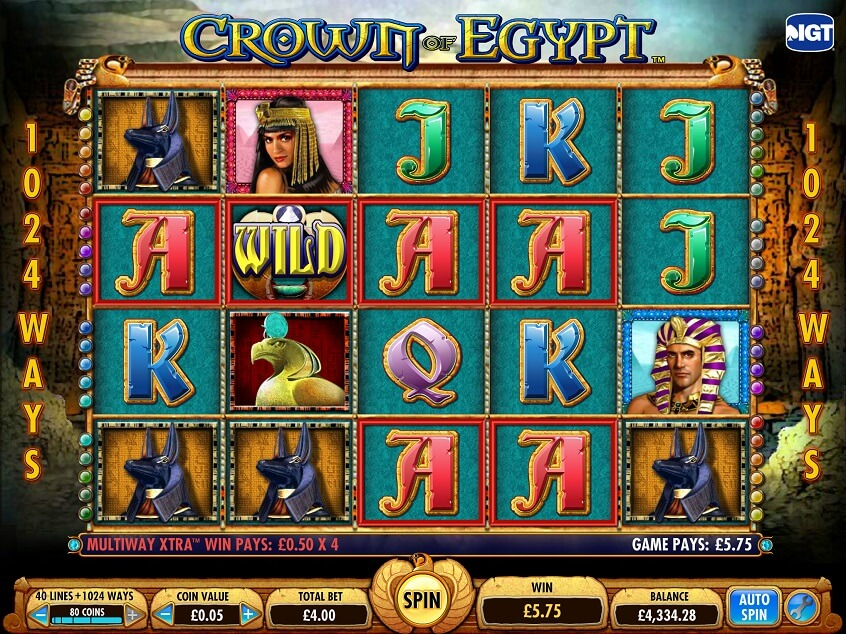Snapshot from game: Crown of Egypt