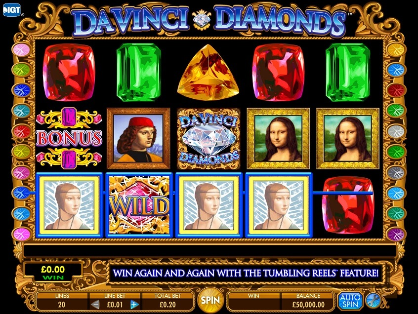 Snapshot from game: Da Vinci Diamonds