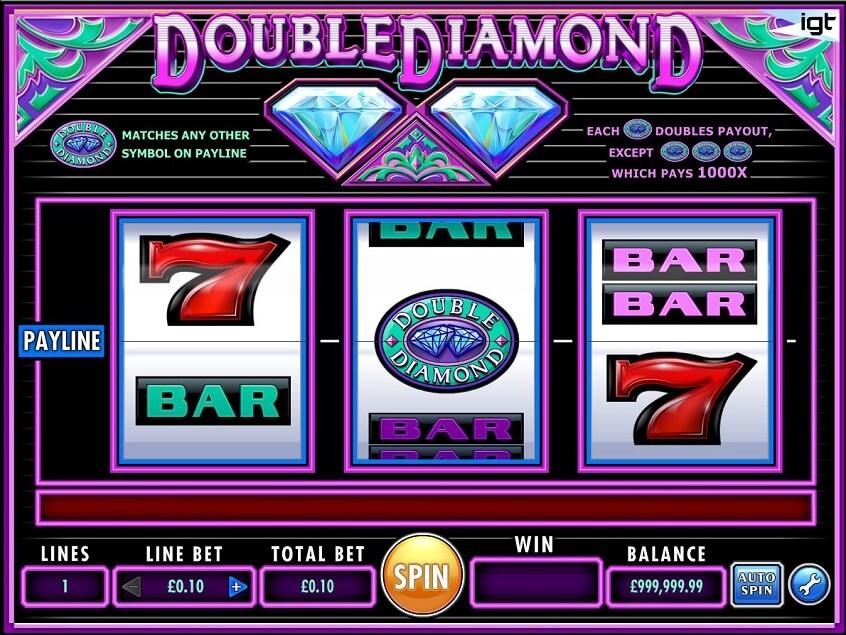 Screenshot of the game: Double Diamond