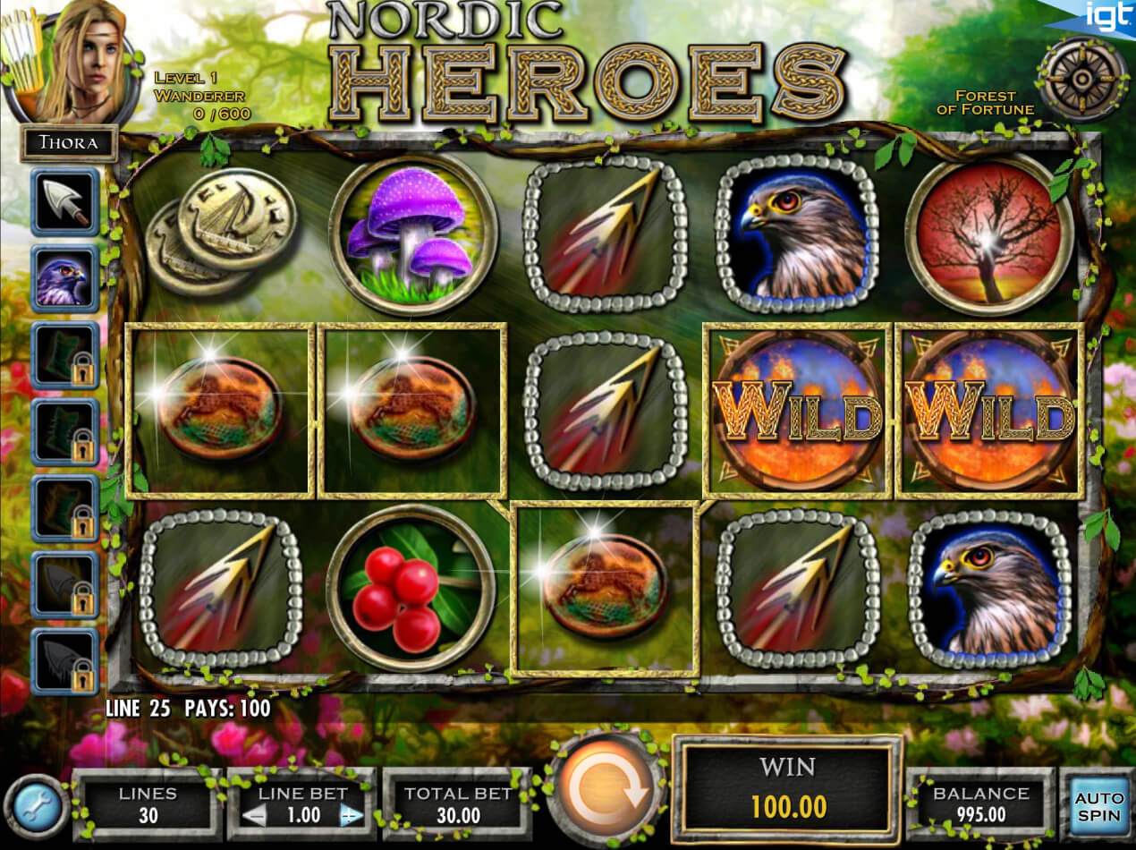 Screenshot from game: Nordic Heroes