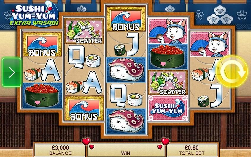 Screenshot of the game: Sushi Yum-Yum Extra Wasabi