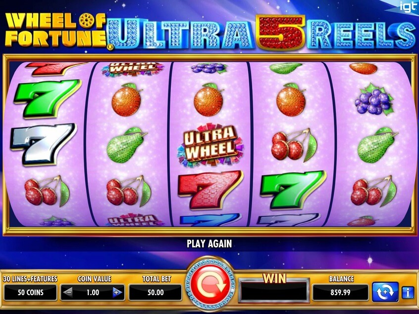 Screenshot of the game: Wheel of Fortune Ultra 5 Reels