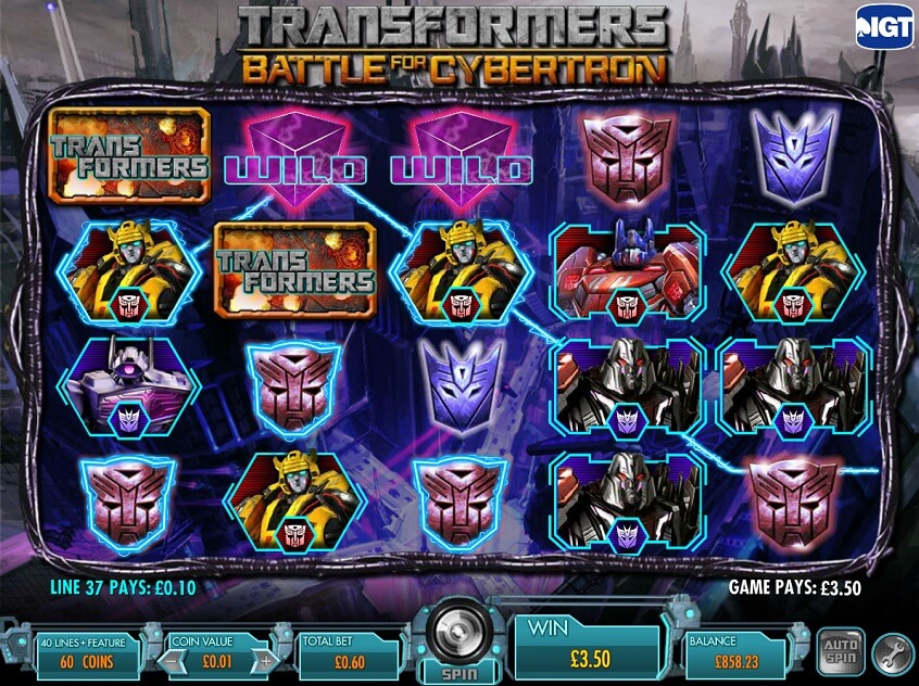 Screenshot of the game: Transformers - Battle for Cybertron
