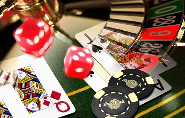 Casino Feel: Chips, cards, dices