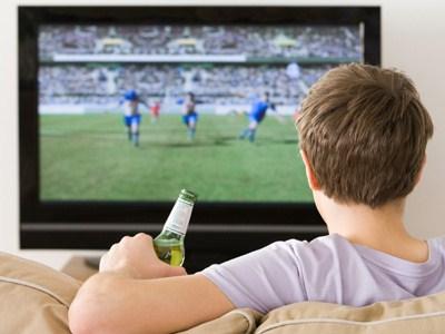 husband watching football