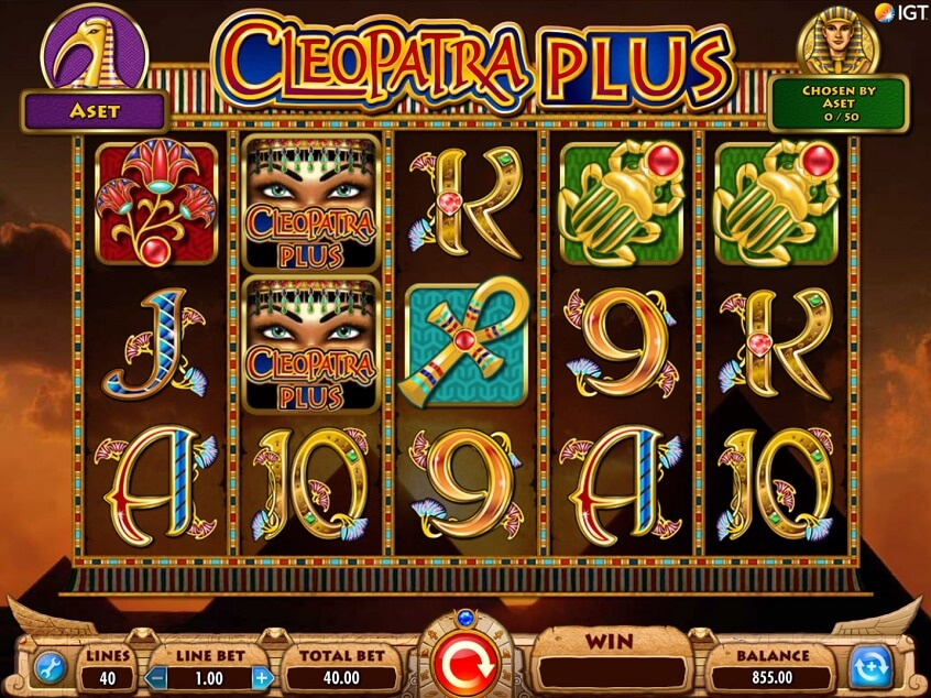 Screenshot from game: Cleopatra Plus