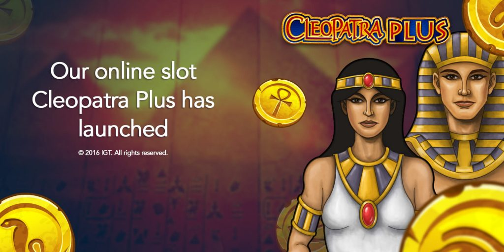 Our Online Slot Cleopatra Plus has launched 1