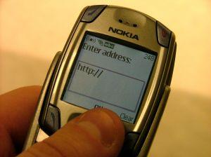 WAP on a Nokia phone