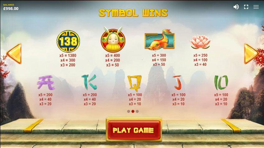 Draon's Luck symbols