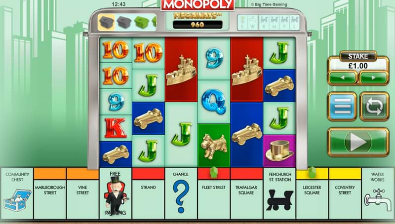 Monopoly Megaways™ slot by Big Time Gaming