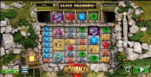 Screenshot of the Bonanza slot machine from Big Time Gaming