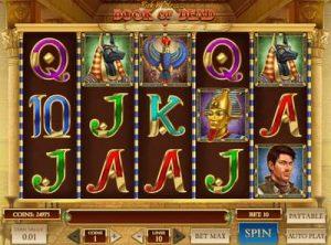 Screenshot of Play'n GO's Book of Death slot machine