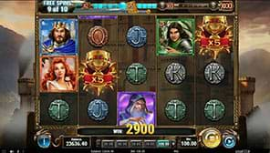 Free spins on the The Sword and The Grail slot machine