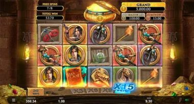 Lara Croft Temples and Tombs free spins