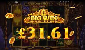 Dragon's Fire Megaways big win