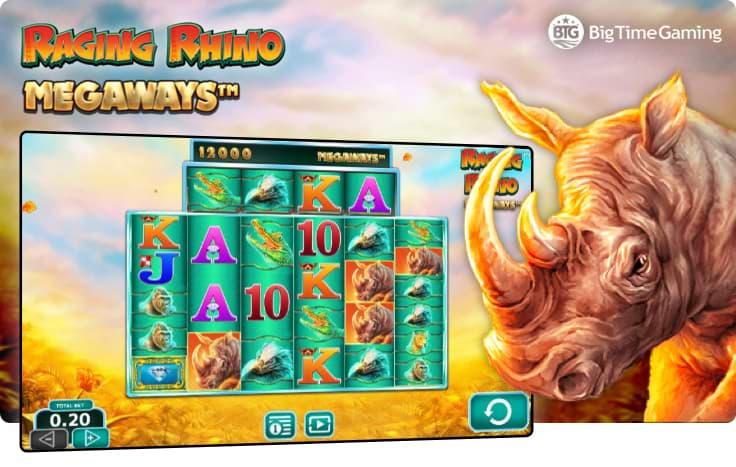 Racing Rhino slot by Big Time Gaming