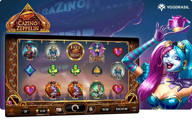 Zepplin Cazino slot by YGGdrasil