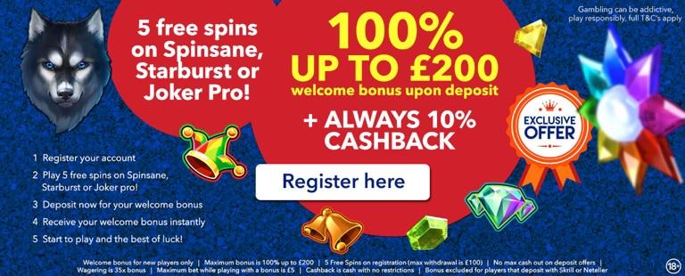 All British Casino Special Bonus