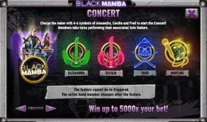Concert on Black Mamba slot machine