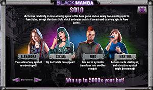 Solo on Black Mamba slot machine