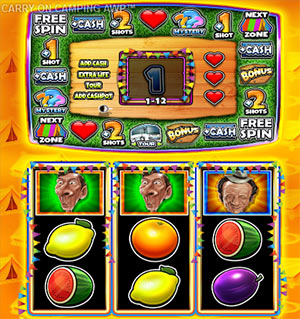 Screenshot of Carry on Camping slot machine