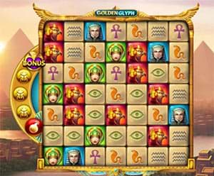 Screenshot of Golden Glyph slot machine