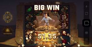 Big win on Jungle Jim and the Lost Sphinx slot machine