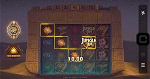 Screenshot of the Jungle Jim and the Lost Sphinx slot machine