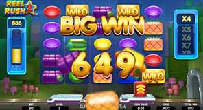 Big win on Reel Rush 2 slot machine
