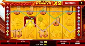 Free spins on Sweety Honey Fruity
