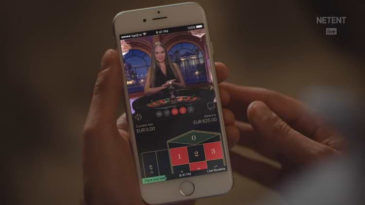 Roulette live developed by the casino software NetEnt