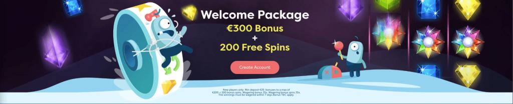 PlayFrank Casino Welcome Bonus Screenshot