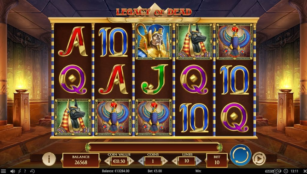 Legacy of Dead slot - screenshot