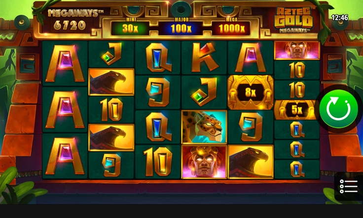 mobile screenshot aztec gold megaways