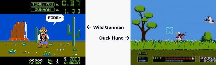 Wild Gunman and Duck Hunt