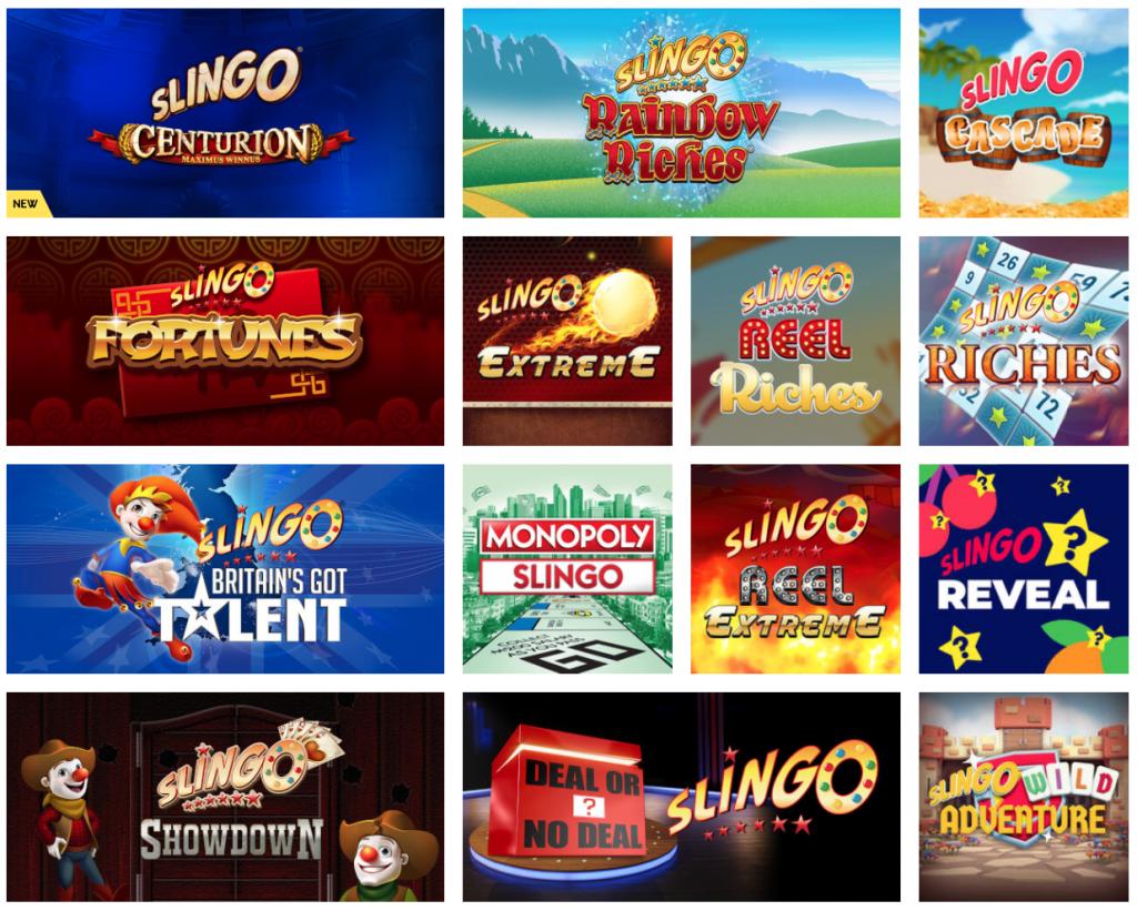 Slingo Games at PlayOJO