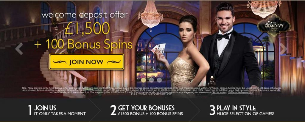 The Grand Ivy Casino - Welcome Offer