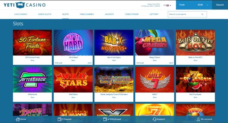 Yeti Casino Slots