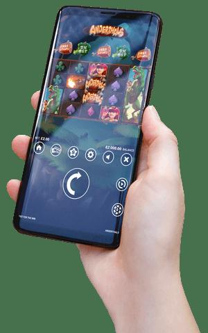 Anderthals slot mobile screenshot