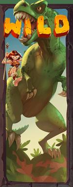 Dinosaur expanding wild