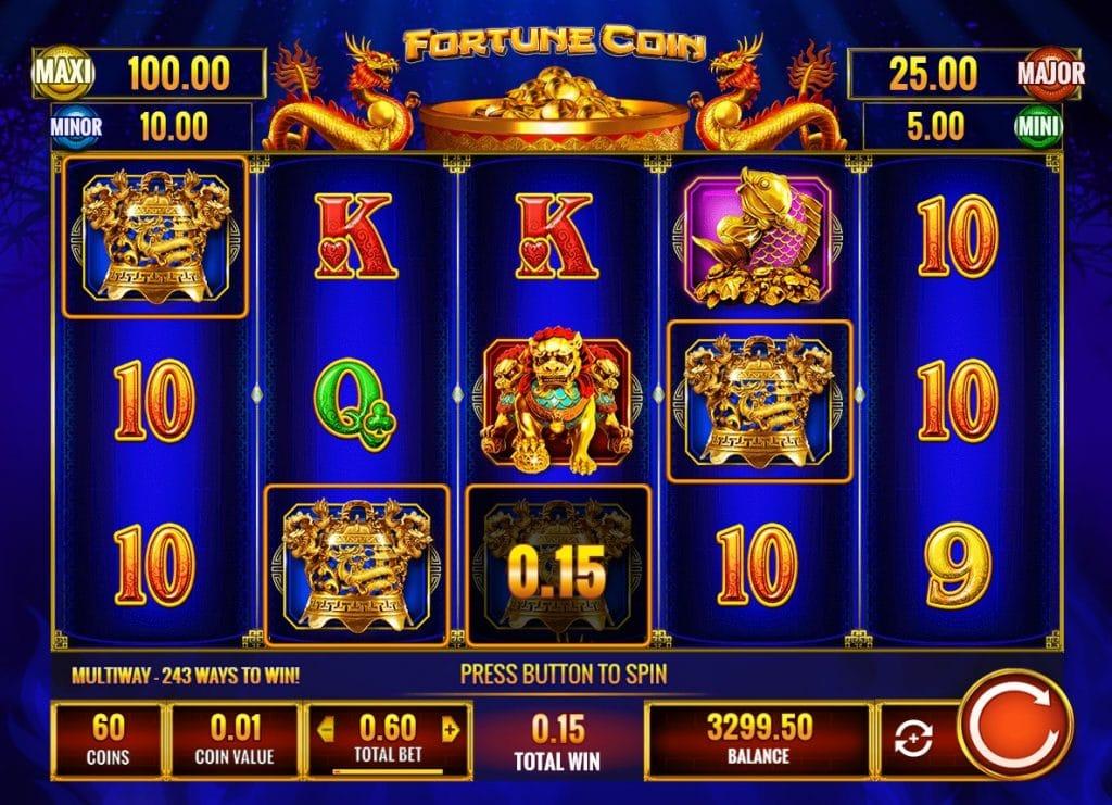 Fortune Coin slot screenshot