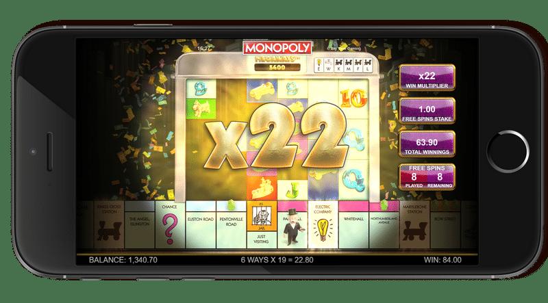 Monopoly Megaways free games