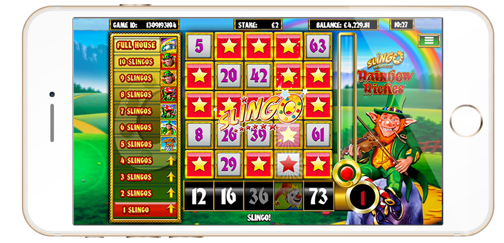Slingo Rainbow Riches screenshot on mobile