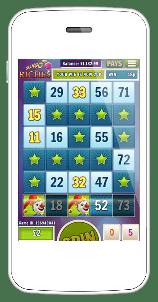 Slingo Riches mobile screenshot