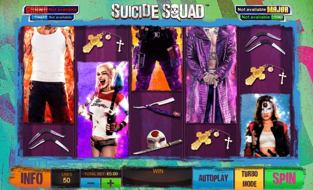 Suicide Squad slot screenshot
