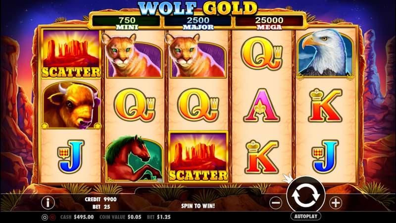 Wolf Gold slot screenshot