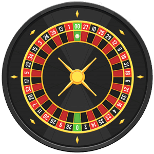 American roulette wheel with double zero