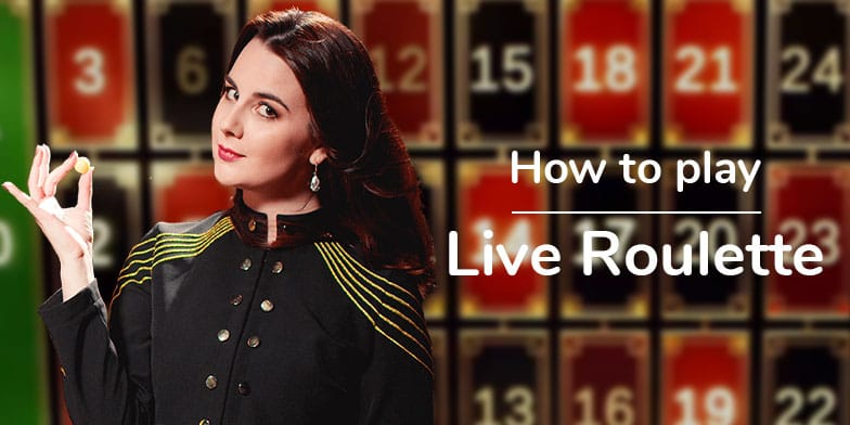 Live Roulette, with dealer filmed inside a real casino. 1